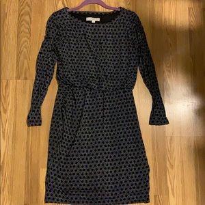 Long Sleeve Cinch Waist Dress